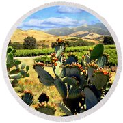 View From Santa Rosa Road Round Beach Towel