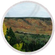 View From Shinning Bank  Round Beach Towel