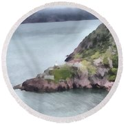 View From Signal Hill Round Beach Towel