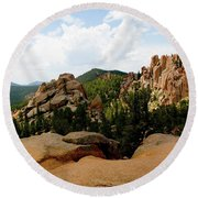 View From The Crags Round Beach Towel
