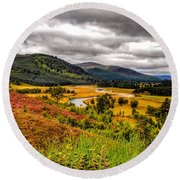 View From The River Dee Round Beach Towel