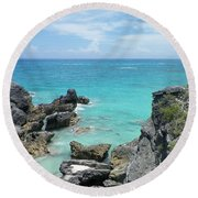 View From The Top Round Beach Towel