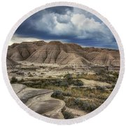 View From The Top - Toadstool  Round Beach Towel