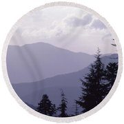 View From The Trees Round Beach Towel