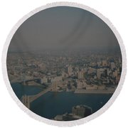 View From The  W T C  Round Beach Towel