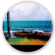 View From The Window Round Beach Towel