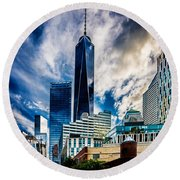 View From Tribeca Round Beach Towel