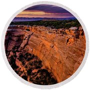 View From Upper Ute Canyon, Colorado National Monument Round Beach Towel