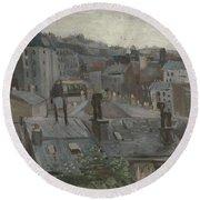View From Vincent S Studio Paris, June 1886 Vincent Van Gogh 1853  1890 Round Beach Towel