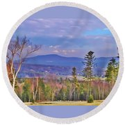 View From Von Trapps Lodge 1 Round Beach Towel