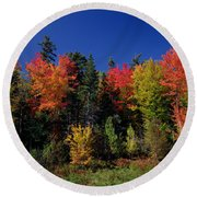 View In The Appalachian Mountains Round Beach Towel