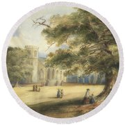 View Of A Churchyard, Southborough, Kent Round Beach Towel