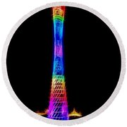 View Of Canton Tower In Guangzhou Round Beach Towel