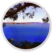 View Of  Central Coast From West Head  Round Beach Towel