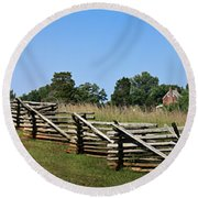 View Of Clover Hill Tavern Appomattox Court House Virginia Round Beach Towel