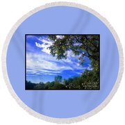 View Of Countryside In Frederick Maryland In Summer Round Beach Towel