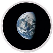 View Of Earth Taken From The Apollo 13 Round Beach Towel