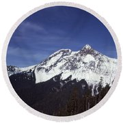 View Of Garibaldi Mountain Round Beach Towel
