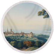 View Of Lucerne Round Beach Towel