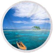 View Of Micronesia Round Beach Towel