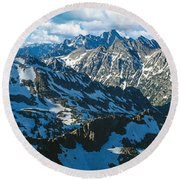 View Of Mountains, Table Mountain Round Beach Towel