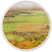 View Of Ottawa Valley In Autumn 13 Round Beach Towel