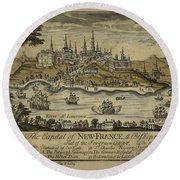 View Of Quebec City 1759 Round Beach Towel