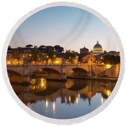 View Of Rome Round Beach Towel