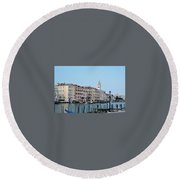 View Of San Marcos Round Beach Towel
