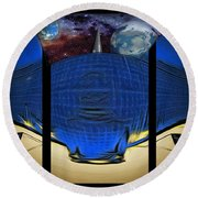 View Of Space From The Observatory Round Beach Towel