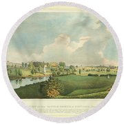 View Of The Battle Ground At Concord Mass Round Beach Towel