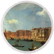 View Of The Canal Of Santa Chiara Round Beach Towel