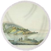 View Of The Island Round Beach Towel