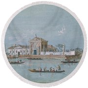 View Of The Island Of B.v. Del Rosario Round Beach Towel