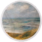 View Of The Sea Guernsey Round Beach Towel