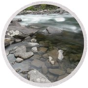 View Of The Wenatchee River Round Beach Towel