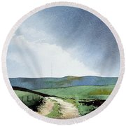 View Over Pole Moor Round Beach Towel