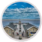 View Over The Pier Round Beach Towel