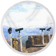 View The Columbia At The Vista House Round Beach Towel