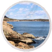 View To Sand Beach Round Beach Towel