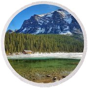Views From Lake Louise Alberta  Round Beach Towel