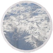 Views From The Sky Round Beach Towel