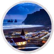 Vik Iceland Round Beach Towel
