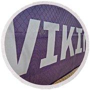 Vikings Banner Round Beach Towel