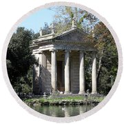 Villa Borghese Park Round Beach Towel