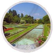 Villa Taranto Gardens,lake Maggiore,italy Round Beach Towel