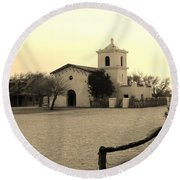 Village Chapel Round Beach Towel