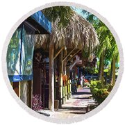 Village Life II - Siesta Key Round Beach Towel