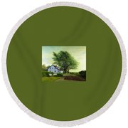 Village Road Orient  16x20 Round Beach Towel