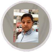 Vinay Kumar Round Beach Towel